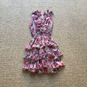 Misa Los Angeles Imelda Pink Floral Dress Large